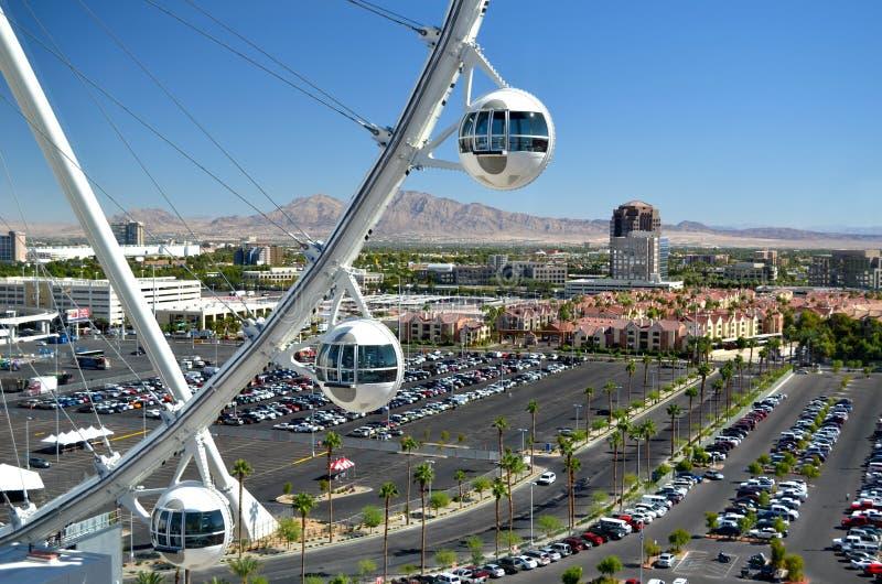 Кабины Лас-Вегас Skyroller над городом, Лас-Вегас, Невадой, США стоковые фотографии rf