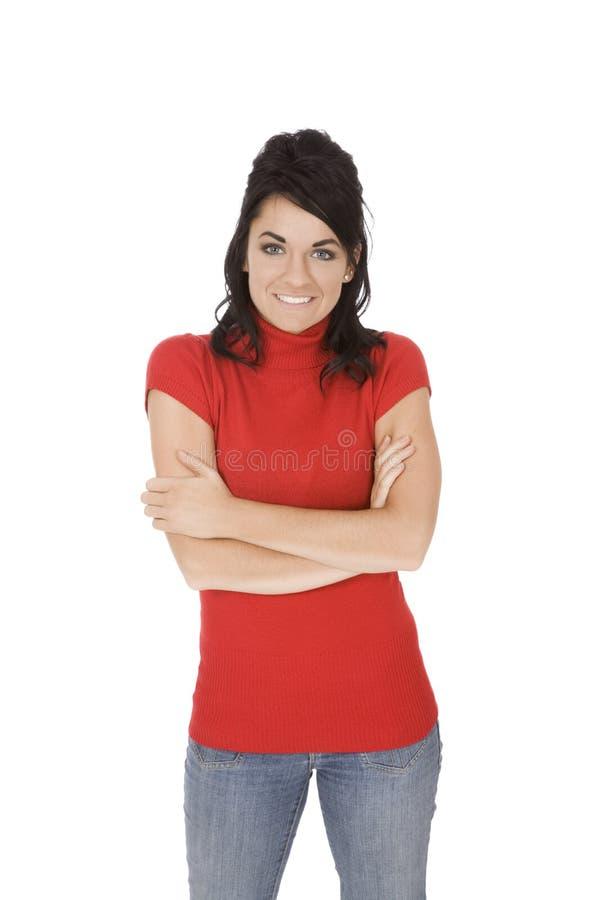 кавказская женщина стоковая фотография rf