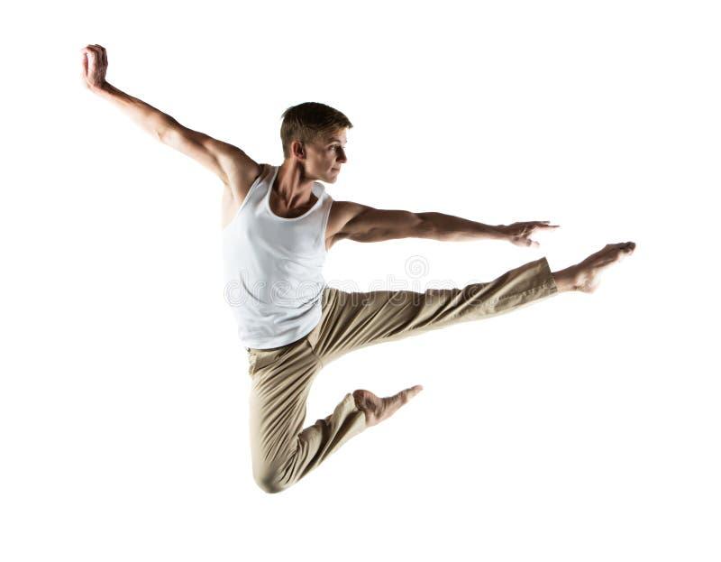 Кавказский мужской танцор стоковое изображение