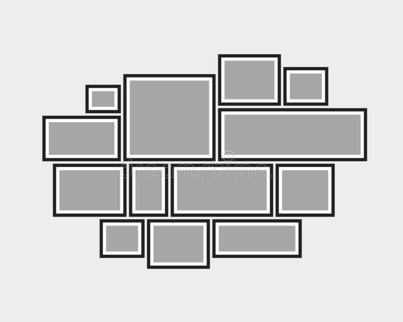 Кадры доски 12 коллажа вектора пустые, фото бесплатная иллюстрация
