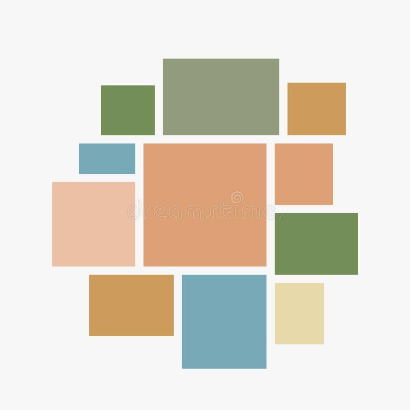 Кадры доски 11 коллажа вектора пустые, фото бесплатная иллюстрация