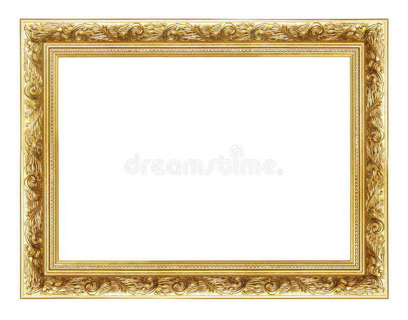 кадр 2 золотистый стоковое изображение