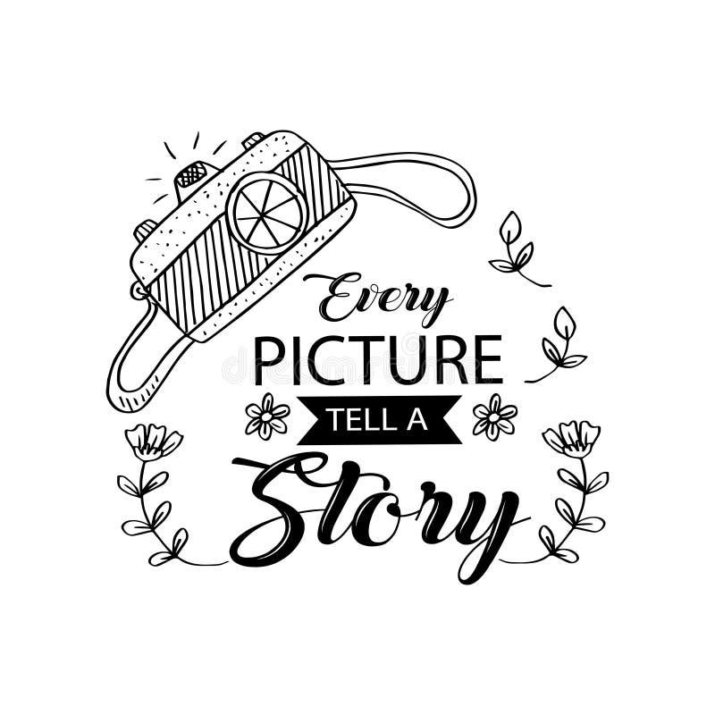 Каждое изображение говорит литерность рассказа бесплатная иллюстрация