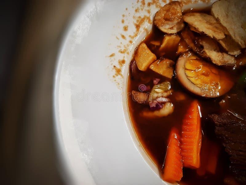 Казалось бы, салатная еда из Центральной Явы Индонезии, а именно: Selat Solo стоковые изображения rf