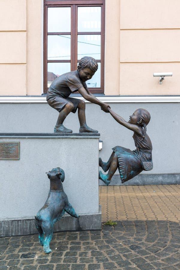 Казань, Россия - 26-ое марта 2017 Доверие самая лучшая скульптура конкуренции 2016 стоковое фото rf