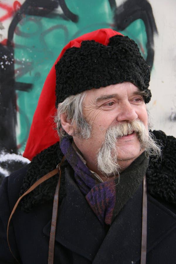 казацкие длинние старые украинские вискеры 1 стоковое изображение