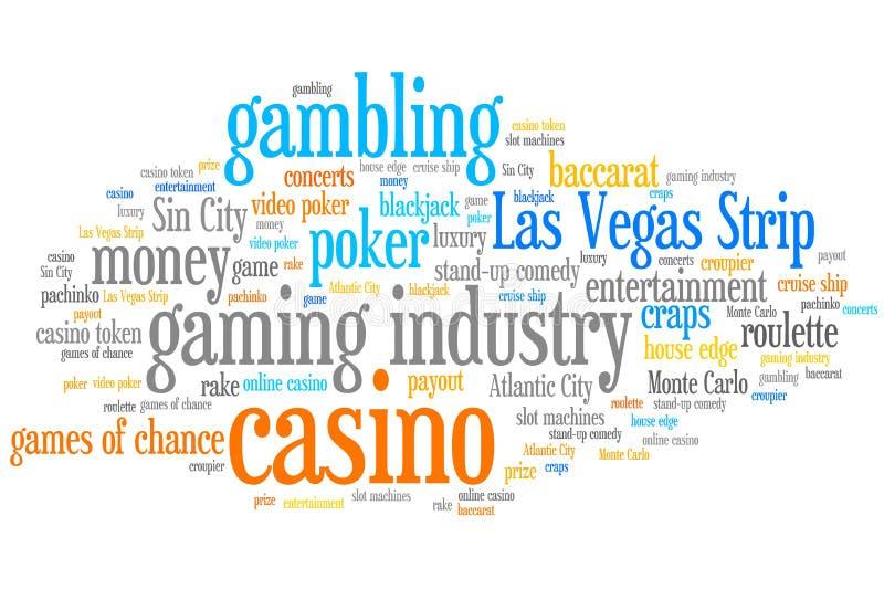 Казино играя в азартные игры иллюстрация штока