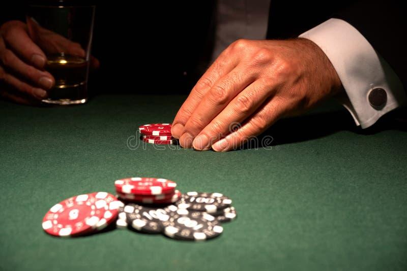 казино карточки откалывает игрока стоковая фотография rf