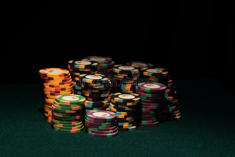 казино откалывает покер стоковая фотография