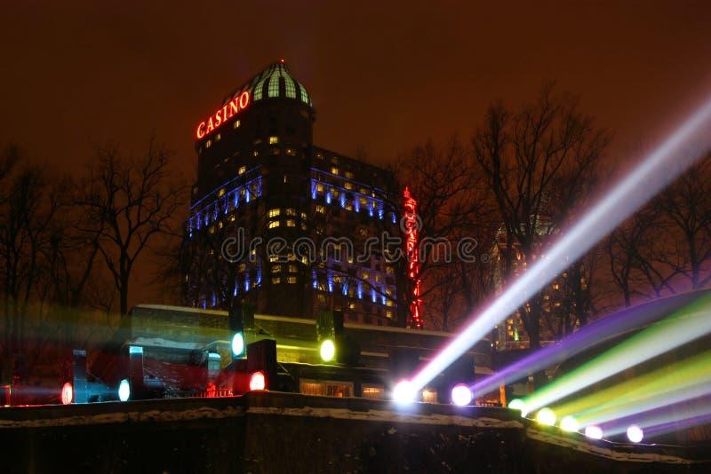 казино падает ноча niagara стоковое изображение