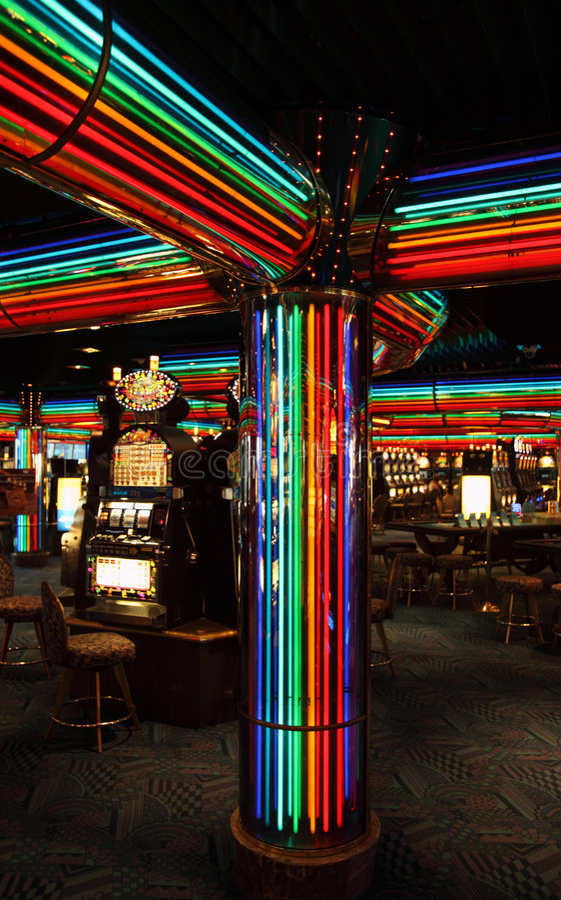 казино подвергает шлиц механической обработке стоковое фото