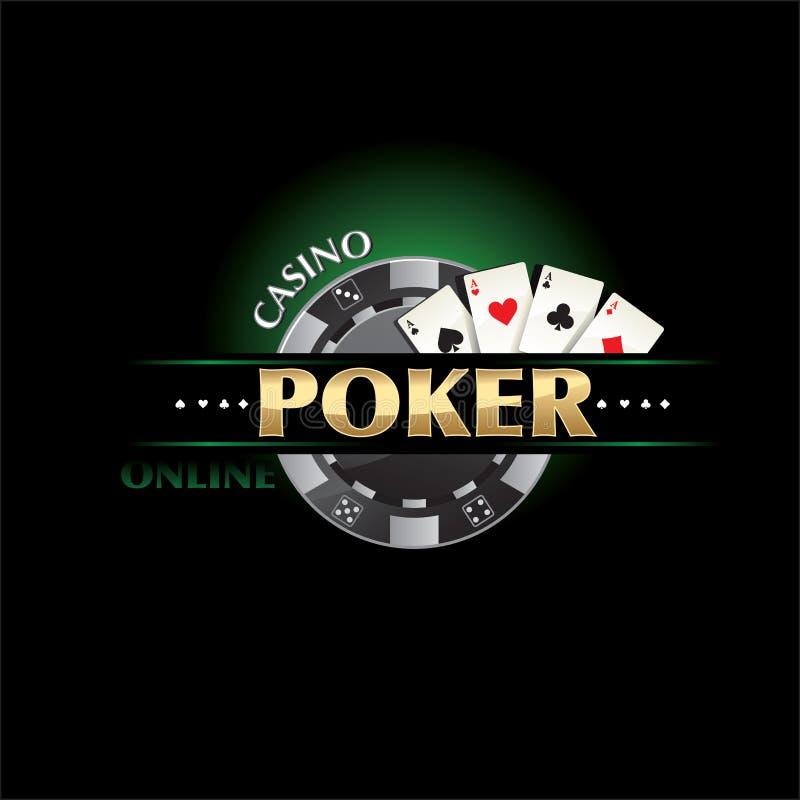 Казино покера он-лайн иллюстрация вектора