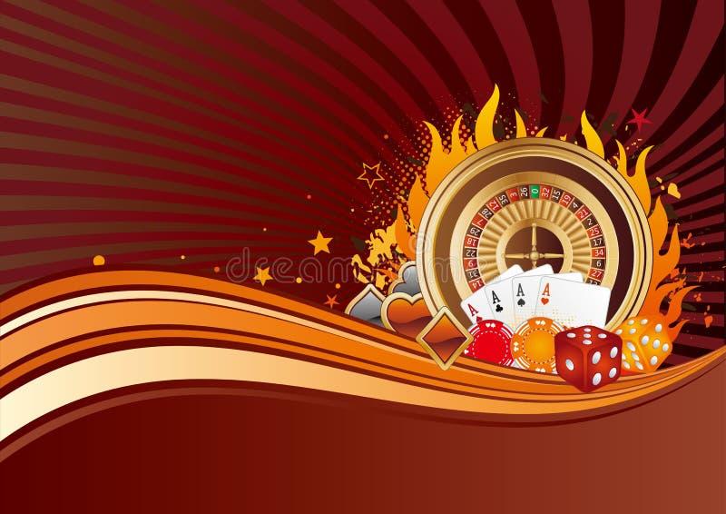 казино предпосылки иллюстрация вектора
