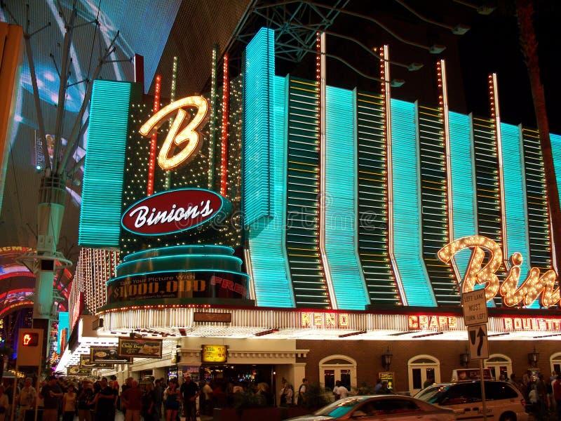 Казино Binion к ноча стоковое изображение rf