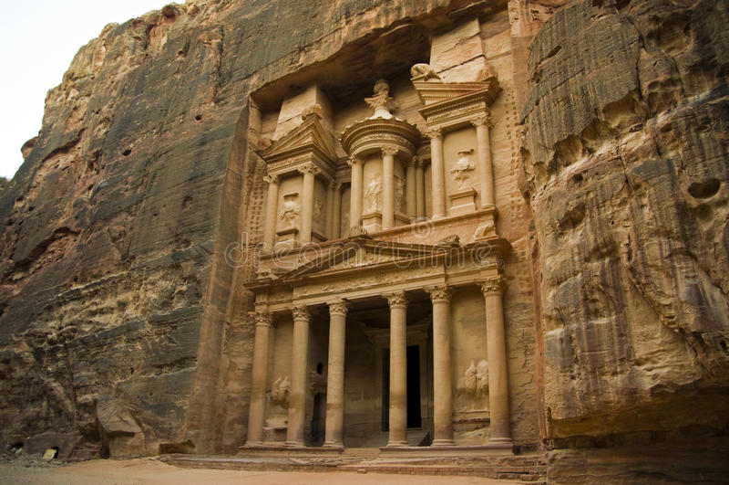 казначейство petra Иордана стоковая фотография rf