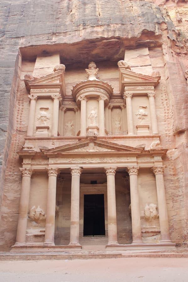 казначейство petra Иордана стоковые фотографии rf