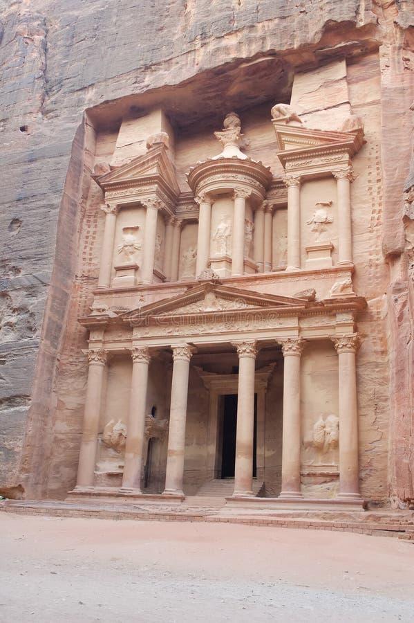 казначейство petra Иордана стоковые изображения rf
