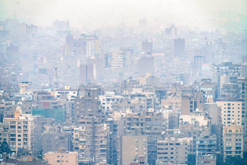 11/18/2018 Каиров, Египет, панорамный вид централи и части дела города от смотровой площадки на самом высоком towe стоковая фотография