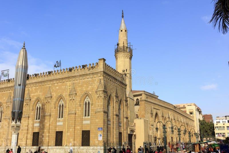 Каир, Египет - 13-ое декабря 2014: Мечеть Al-Хусейна, ibn Али Husayn стоковое изображение