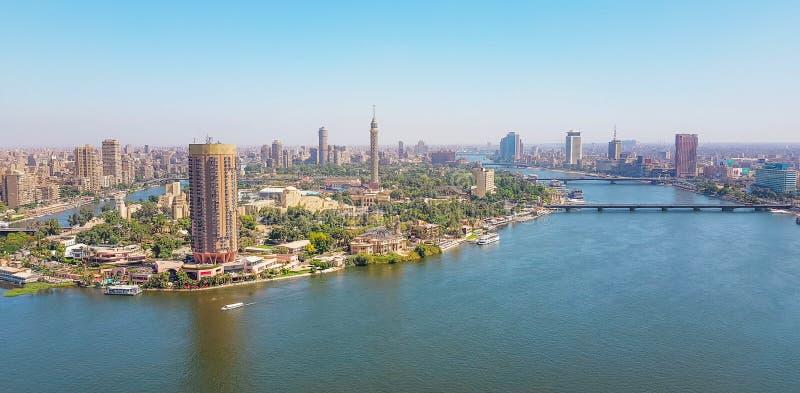 Каир рекой Нилом стоковая фотография