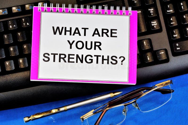 Каковы ваши сильные и слабые стороны? важно подчеркнуть то, что вы хорошо в профессиональном плане, что помогает в работе. стоковая фотография