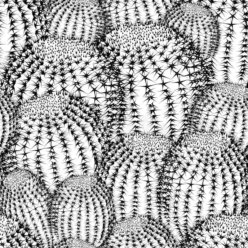 Кактус засаживает предпосылку картины текстуры безшовную иллюстрация вектора