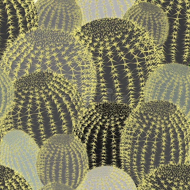 Кактус засаживает предпосылку картины текстуры безшовную бесплатная иллюстрация