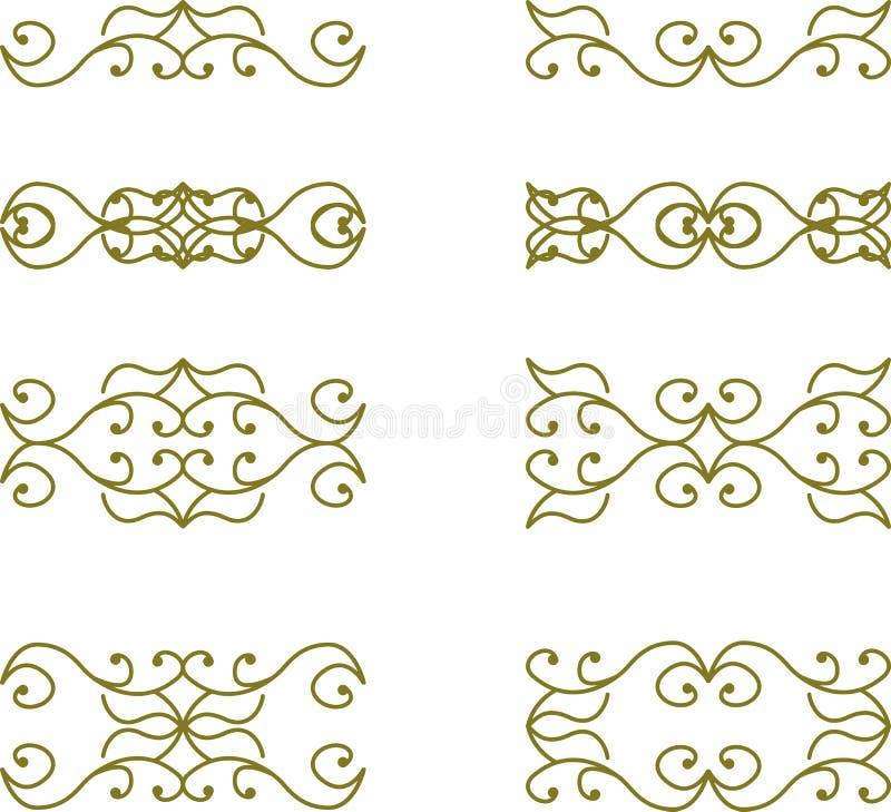 как желание флористического переченя элементов конструкции цвета vectorized вы иллюстрация вектора