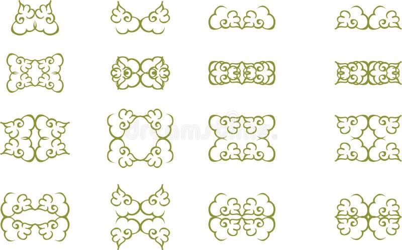 как желание флористического переченя элементов конструкции цвета vectorized вы бесплатная иллюстрация