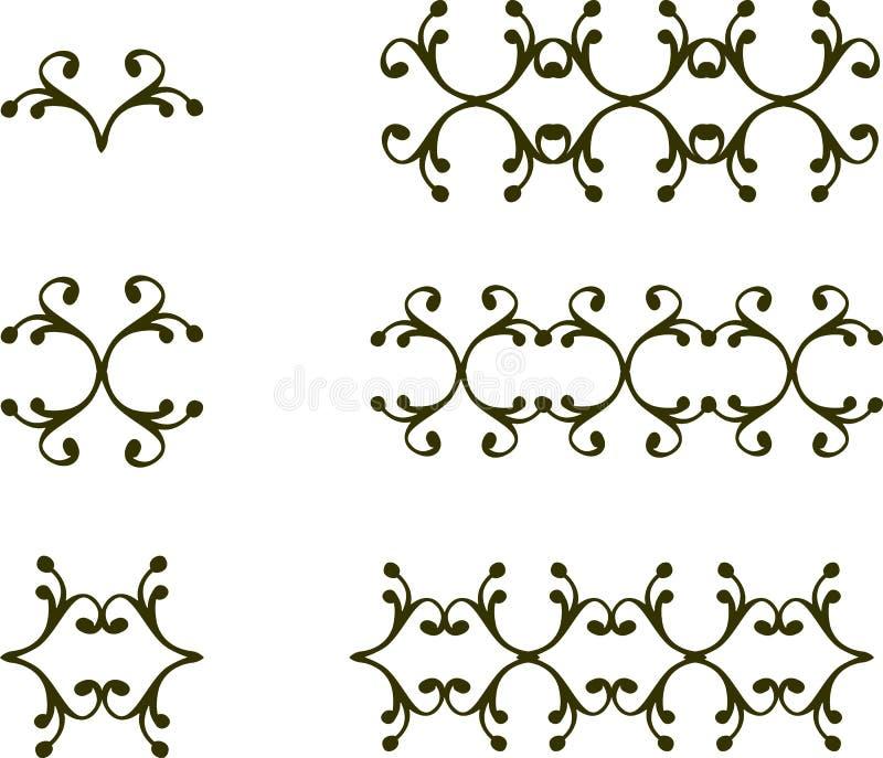 как желание флористического переченя элементов конструкции цвета vectorized вы иллюстрация штока