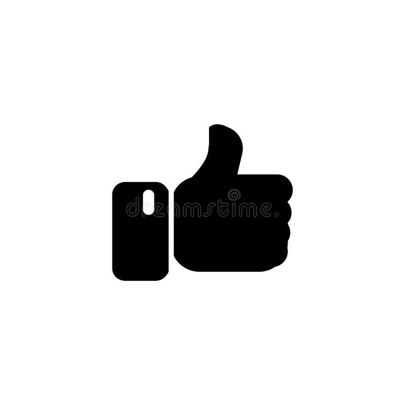 Как значок Большие пальцы руки вверх по вектору дизайна значка плоскому 10 eps иллюстрация штока