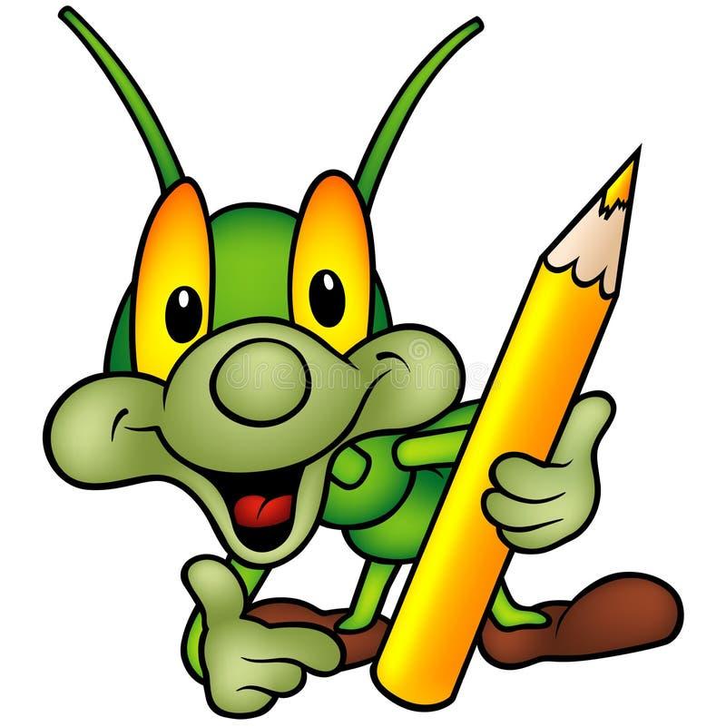 как колеривщик зеленого цвета черепашки счастливый иллюстрация штока