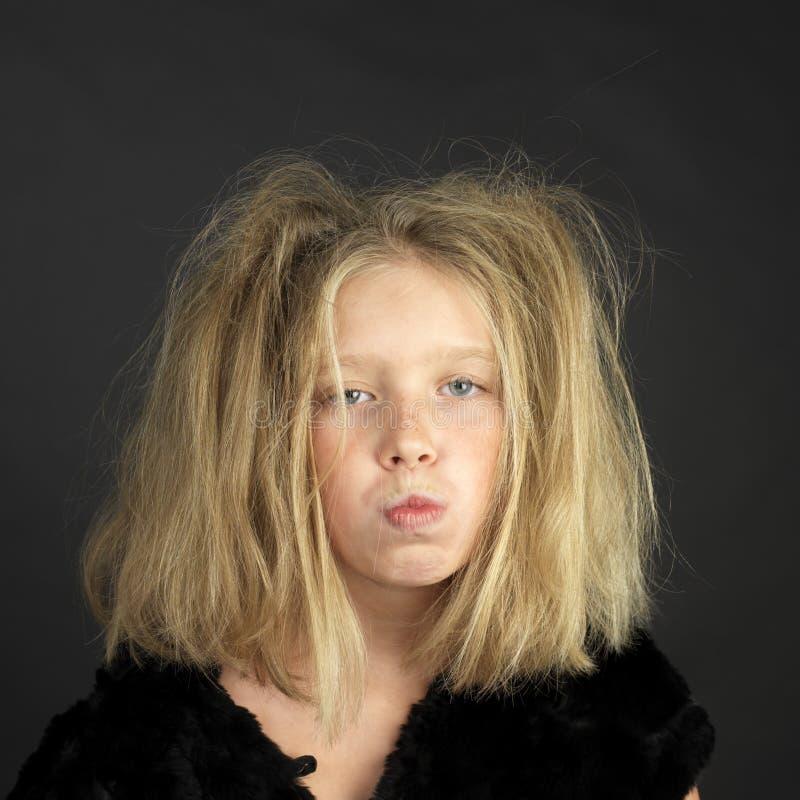 как одетьнный troll halloween девушки стоковая фотография