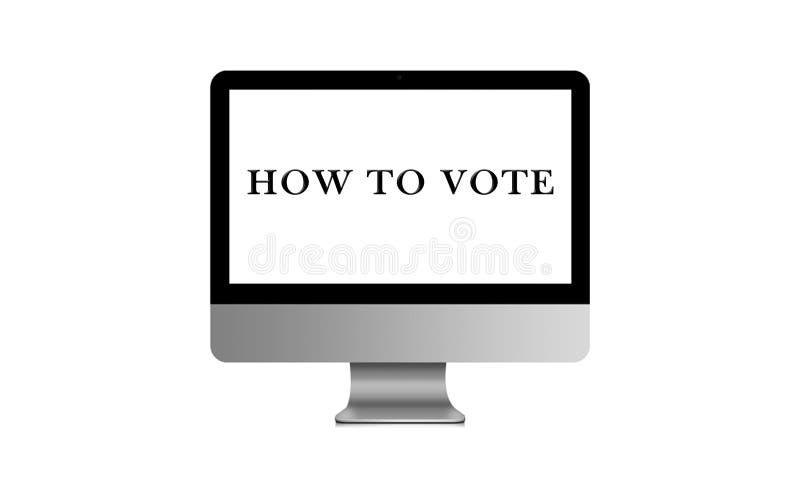 Как проголосовать значок иллюстрации избирательной системы 3D избрания бесплатная иллюстрация