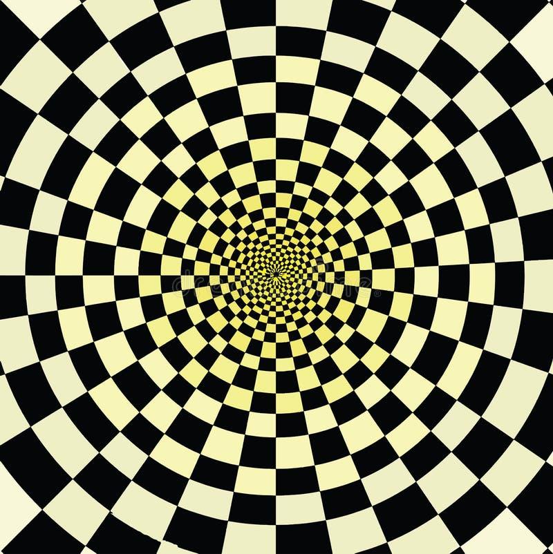 Как раз наблюдайте эту странную иллюзию иллюстрация вектора