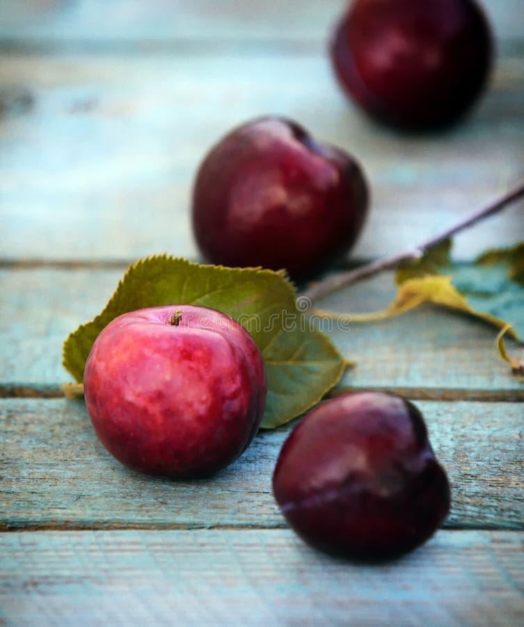 Как раз сжатые вкусные вишни с листьями стоковое фото