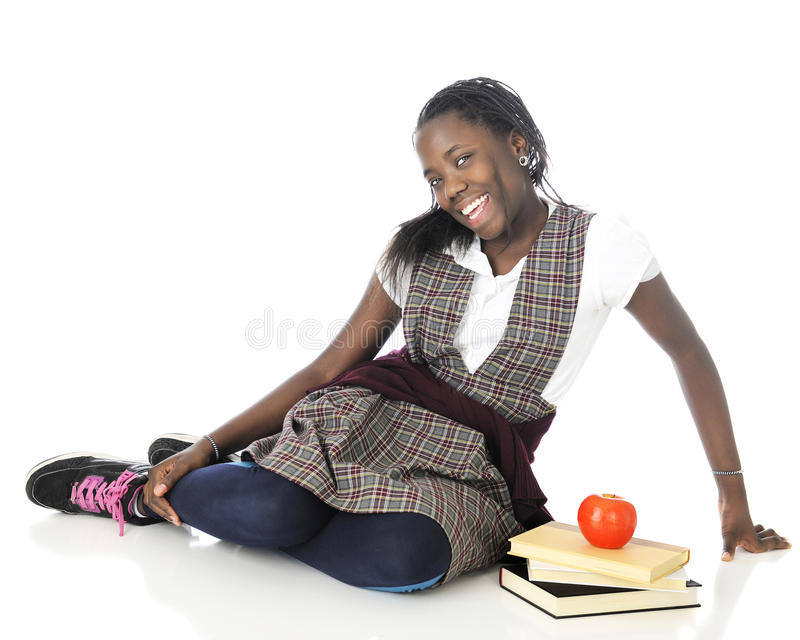 Как раз чуть застенчивая школьница стоковая фотография