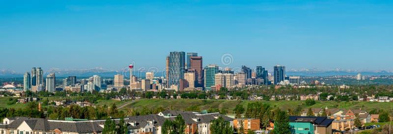 Калгари - панорама города стоковое фото