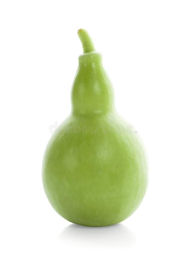 Калебас, плодоовощ тыквы бутылки изолированный на белой предпосылке стоковые изображения rf