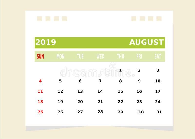 Календарный месяц августовский бесплатная иллюстрация