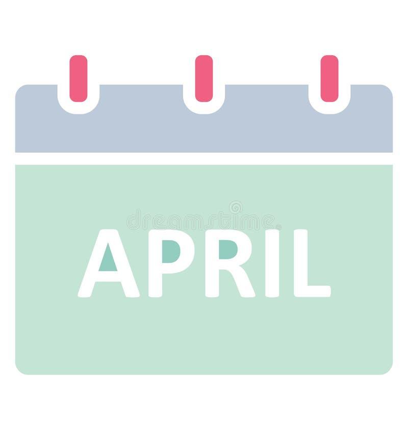 Календарь -го апрель, изолировал значок вектора который может легко доработать или отредактировать иллюстрация штока