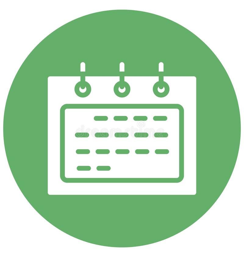 Календарь изолировал значок вектора который может легко доработать или отредактировать иллюстрация вектора