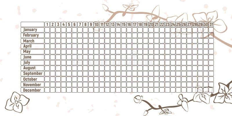 Календарь менструального периода иллюстрация вектора