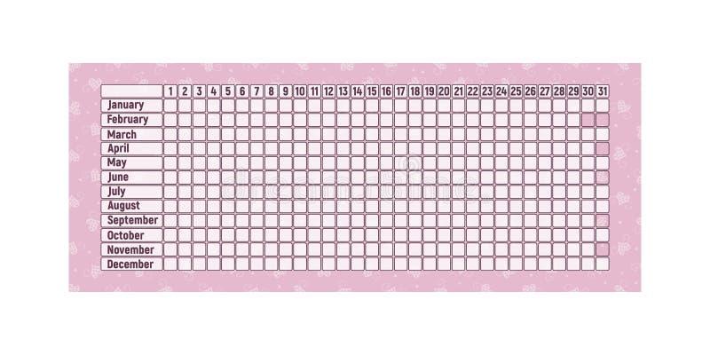 Календарь менструального периода бесплатная иллюстрация