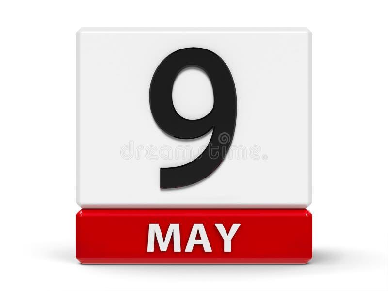 Календарь 9-ое мая кубов бесплатная иллюстрация