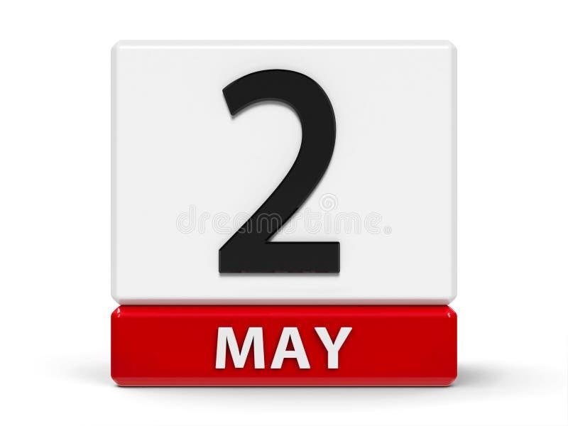 Календарь 2-ое мая кубов бесплатная иллюстрация