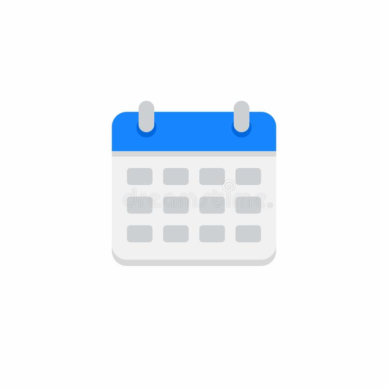 Календарь, отсутствие предпосылки, вектора, плоского значка бесплатная иллюстрация