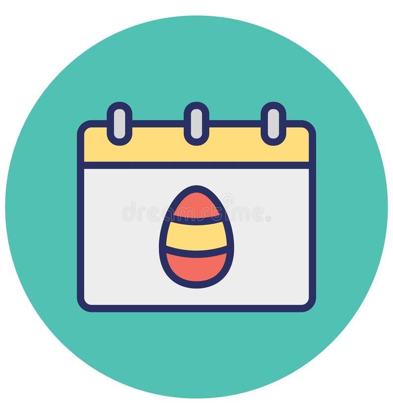 Календарь, пасха изолировал значок вектора который может легко доработать или отредактировать бесплатная иллюстрация