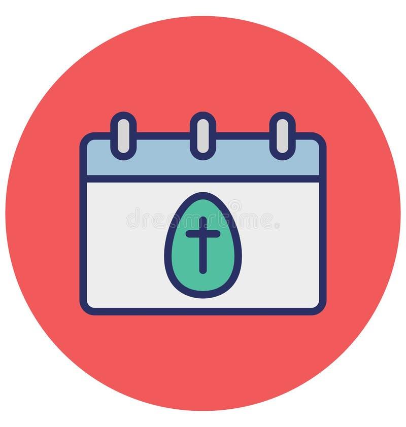 Календарь, пасха изолировал значок вектора который может легко доработать или отредактировать иллюстрация вектора