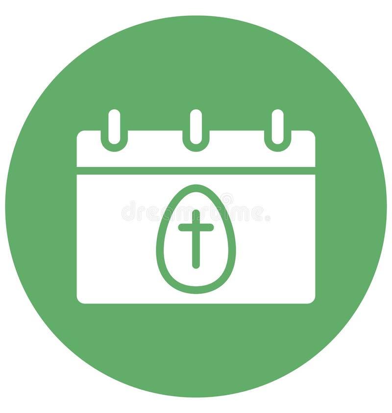Календарь, пасха изолировал значок вектора который может легко доработать или отредактировать иллюстрация штока